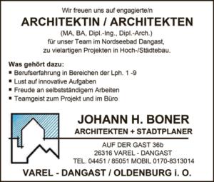 Architeken in Varel gesucht